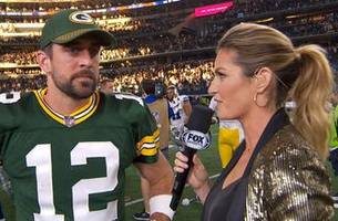 aaron rodgers tells erin andrews about his game-winning throw