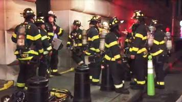 Fire Breaks Out On The Roof Of The New York Fed