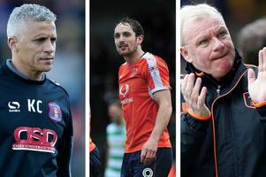 League Two winners and losers, featuring Luton Town, Mansfield Town, Wycombe and Keith Curle