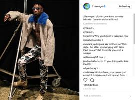 """21 Savage Fans Blow Up On Him Working W/ Jake Paul: """"Your Career Just Ended If This Jake Paul S**t's Real"""""""