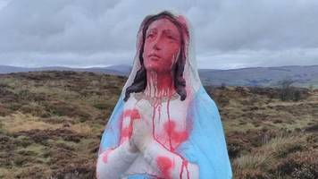 virgin mary statue 'desecrated' in county tyrone