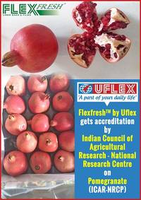 Flexfresh™ Liner Bag by Uflex gets Accreditation for Pomegranates