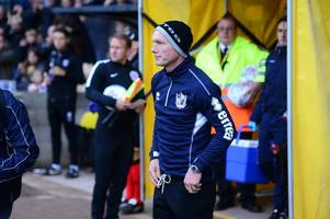 neil aspin challenges players for port vale's reserve game at rotherham