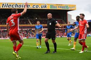 walsall's 'invisible man' leaves shrewsbury boss calling for video refs