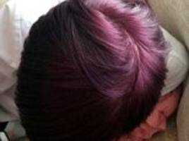 school bans girl, 15, from classroom over purple hair