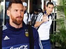 lionel messi and co leave hotel for world cup decider