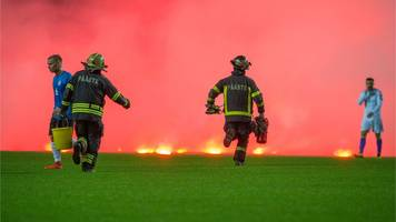 flares thrown during bosnia's win in estonia