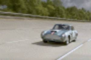Aston Martin DB4 GT Continuation hits the test track