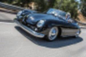 jay leno takes a look at a porsche 356-boxster mashup
