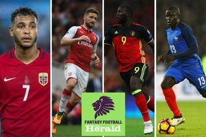 fantasy premier league: injury update on romelu lukaku, marouane fellaini, n'golo kante, alvaro morata, shkodran mustafi and josh king during international break ahead of gw8
