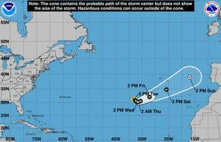 fifteenth tropical storm of the season forms in atlantic: report