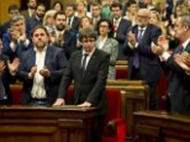 Catalonia: Spain admits 'all options are on the table'