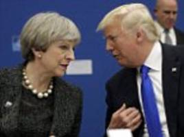 May pleads with Trump to stand by Iran nuclear deal