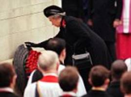 queen asks prince charles to step in and lay her wreath