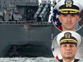 us navy fires top officers of wrecked uss john s mccain