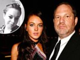 lindsay lohan tells weinstein accusers to go to police