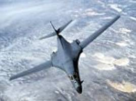two supersonic us bombers fly over korean peninsula