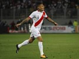 peru 1-1 colombia: paolo guerrero equaliser books play-off