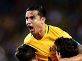 tim cahill flying high as australia eye world cup playoff