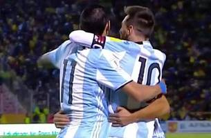 lionel messi hat trick sends argentina to the world cup