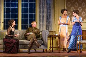 """'time and the conways' broadway review: elizabeth mcgovern slams the door on """"downton abbey"""""""