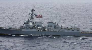us destroyer carrys out trump's 4th freedom of navigation operation in south china sea