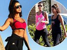 lucy mecklenburgh posts baywatch snap for fitness regime