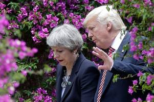 Theresa May directly pressures Donald Trump to tear up Iran nuclear deal