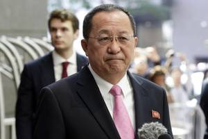 North Korea's Foreign Minister Says Trump 'Lit Wick' Of War
