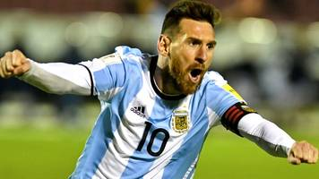 messi sends argentina to world cup