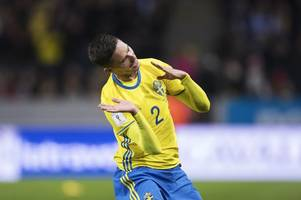 celtic star mikael lustig hailed by sweden boss as national team reach world cup playoffs