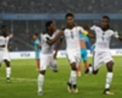 u17 world cup: ghana 4-0 india - colts end on a losing note as black starlets qualify