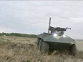 ukraine demonstrates new armed ground robot
