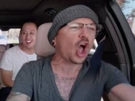 watch linkin park's late singer chester bennington in a new episode of 'carpool karaoke,' filmed 6 days before his death