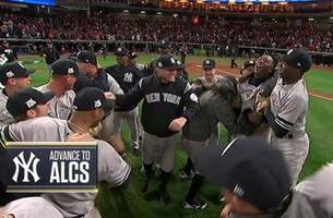 Watch the final out from the Yankees' Game 5 win over the Indians to advance to the ALCS