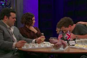 does charlie puth puke on james corden's 'spill your guts or fill your guts'? (video)