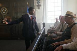 'marshall' review: chadwick boseman plays young thurgood marshall in punchy thriller