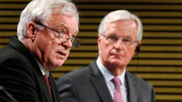 Brexit: David Davis and Michel Barnier to sum up state of talks