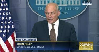 General Kelly Makes Surprise Appearance At Press Briefing With A Message For The Fake Media...