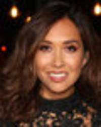 myleene klass exposes underwear in completely see-through dress