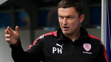paul heckingbottom: barnsley boss given two-match touchline ban