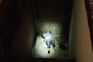 is this gloucester's worst burglar? hapless criminal lay injured for hours after botched sports direct break-in