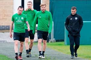 Crocked Celtic duo Scott Brown and Stuart Armstrong on the comeback trail as they join team-mates at training