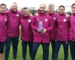 guardiola pips mourinho to claim manager of the month award for september