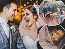 Couple adopt stray dog after he gatecrashed their wedding