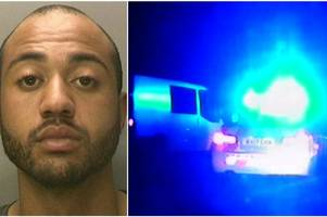 dangerous driver jailed after 100mph police chase on m6