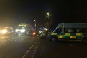 Police and ambulance descend after two-vehicle crash near Lincoln
