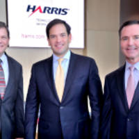 us senator marco rubio visits harris corporation's central florida operations