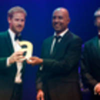 Prince Harry collects legacy award on behalf of mother Princess Diana