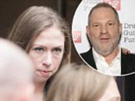 chelsea clinton runs from harvey weinstein's questions